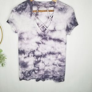 American Eagle Outfitters Tops - American Eagle Soft & Sexy Tiedye Cage Front Top